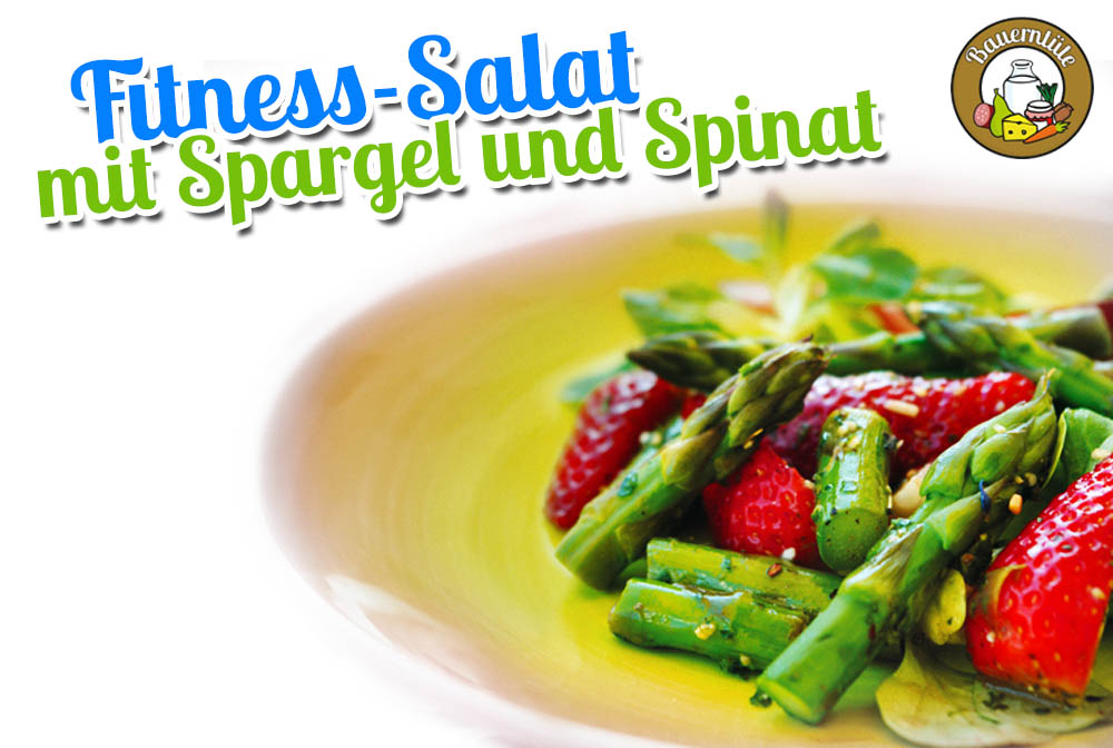 rezept der woche fitness salat mit spargel und spinat. Black Bedroom Furniture Sets. Home Design Ideas