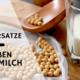 Milchersatze, Hafermilch, Sojamilch, Mandelmilch