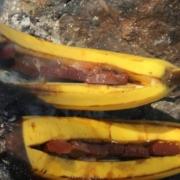 grillrezepte enthalten auch die schoko banane vom grill