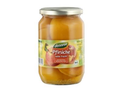 Bio Pfirsiche, halbe Frucht, Glas