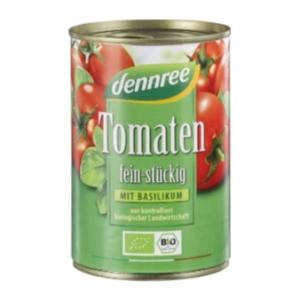 Bio Tomaten stückig mit Basilikum