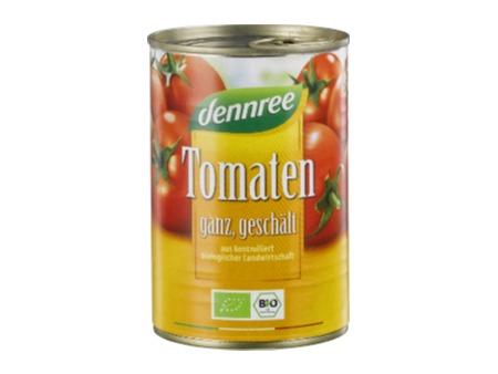 Bio geschälte Tomaten ganz