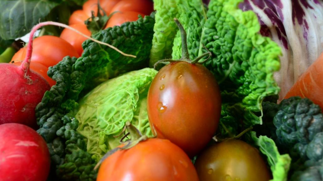 Gemüse Frisch-Tomaten-Wirsing-Radieschen-Radicchio-Möhren-Rebelliontomaten